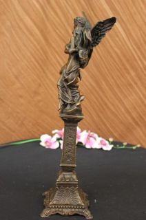 Bronze Sculpture of Eros and Psyche Mythical Figurine Art Nouveau