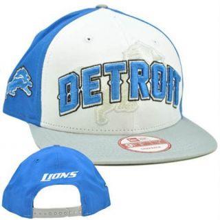 New Era 9FIFITY 950 NFL Draft 2012 Snapback Cap Hat Detroit Lions Flat