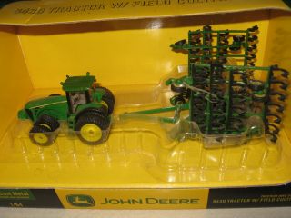 Ertl John Deere 1 64 farm toy 8430 tractor with field cultivator