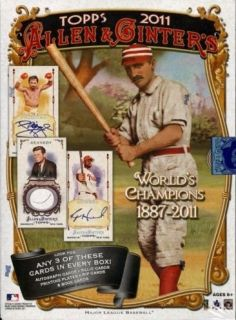 and Ginter Hobby Baseball Factory SEALED Unopened Box 24ct