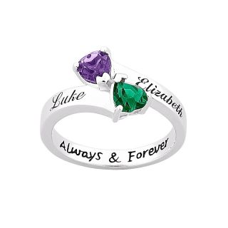 111 4998 sterling silver couple s name and birthstone color crystal