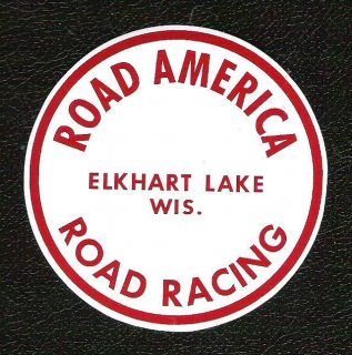 America Road Racing Sticker Elkhart Lake Wis Vintage Sports Car Decal
