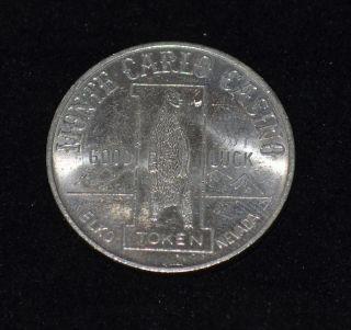 c1980s WYATT EARP Elko Nevada Monte Carlo Casino Dollar Gaming Token 1
