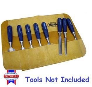 faithfull 8 pocket leather chisel chisels tool roll