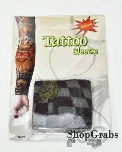 New Dice Heart Skull Black Rose Skull Fake Tattoo Sleve Sleeve Leg Arm