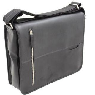 New Perry Ellis Leather Black Laptop Business Case Sale