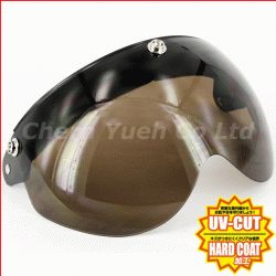 Snap Shield Visor Face Mask UV Smoke Lens for Open Face Helmet Ruby