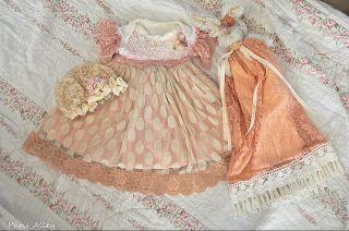 Pokka Dotted Bunny French Lace Dress Bunny Rabbit Hat 4 Reborn Baby