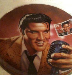 Elvis Presley The Rock And Roll Legend Delphi Commemorative Plate New