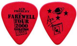 KISS Ace Frehley Farewell City Guitar Pick  Saskatoon 7/17 red tour