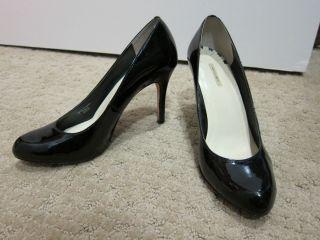 Max Studio Marais Black Patent Leather Pump Heel Shoe Size 6 36