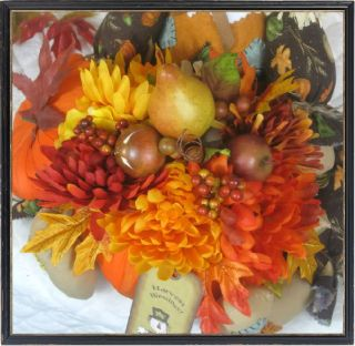 Primitive Fall Autumn Scarecrow Pumpkin Centerpiece