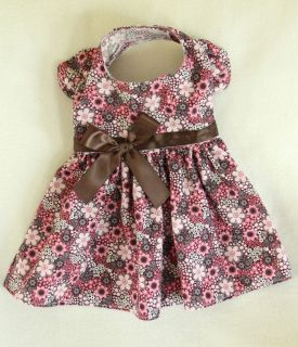 New Fall Flowers Dog Dress Clothes Pet Apparel Small