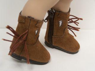 BROWN Faux Suede Cowboy Boots Doll Shoes For 10 Ann Estelle♥