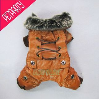 Gothic Fit Fashion for Dog Clothes Pet Jumpsuit Cozy Collar Coat Free