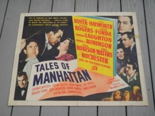 OF MANHATTAN HALF SHEET 1942 RITA HAYWORTH ETHEL WATERS PAUL ROBESON