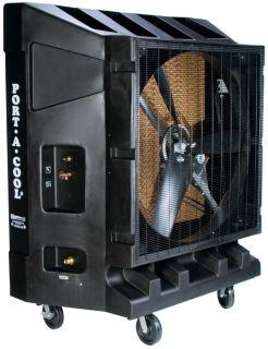 portable evaporative cooler fan 48 inch 2 speed 1 hp motor blade