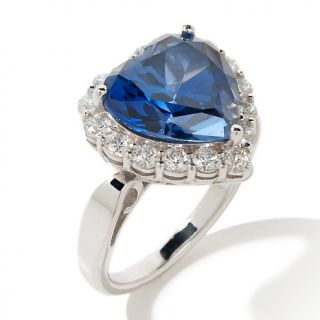 163 520 absolute 6 96ct created sapphire sterling silver heart ring