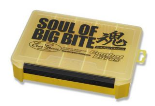 Evergreen Tackle Box Large Yellow Soul of Big Bite 255 x 190 x 60 Mm