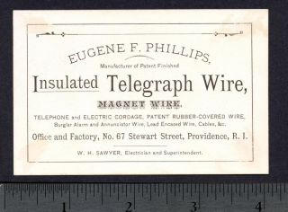 1800s Telephone Wire Magnetic Telegraph Annunciator Advertising