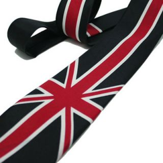 Punk Rock Emo Gothic Music Union Jack Tie 2 Unisex