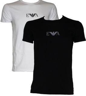 Mens Emporio Armani Crew Neck T Shirt s M L XL in Black or White New