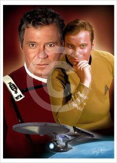 Star Trek CAPTAIN KIRK A4 art giclee print Ltd Ed signed artwork