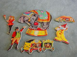 Childrens Wall Decor Art Plaques Circus Theme Zadek Feldstein 1