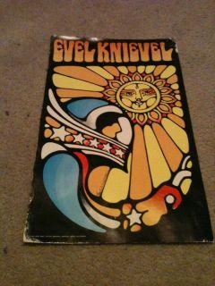 Evel Knievel Poster Vintage DARE DEVIL STUNTMAN RETRO Motorcycle Bike