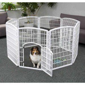 Iris Indoor Outdoor Plastic Pet Pen 8 Panels Dog Cat Fences Excercise