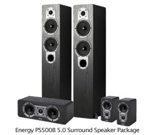 Clearance! Energy PS500 5.0 Surround Speakers 140 Watts Front Towers