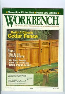 Magazine Build Classic Cedar Fence Drill Press Table Fence Posts