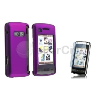 For LG enV Envy Touch VX11000 G Rubberized Purple Hard Case Screen
