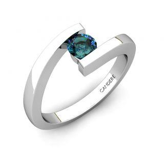 23ct Brilliant Cut Alexandrite Engagement Ring 14k White Gold FJ EHS