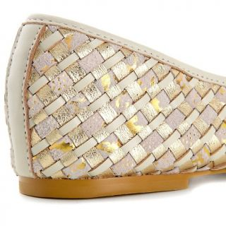 190 568 elliott lucca stacey woven leather ballet flat note customer