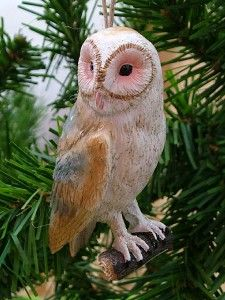 New Barn Owl Feather Bird Animal Christmas Ornament