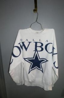 Vtg Cliff Engle Dallas Cowboys Sweatshirt Unisex Size 4XL