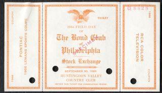 Bond Club of Philadelphia Stock Exchange Field Day Specimen Ticket