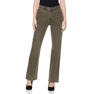 219 013 diane gilman p scattered studs stretch denim boot cut jeans p