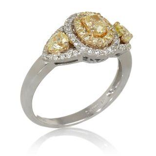 Jewelry Rings Gemstone Rarities 1.01ct Diamond 18K Gold 2 Tone