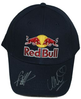 Sebastian Vettel and Mark Webber Signed 2012 Red Bull Racing F1 Cap