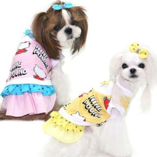 Dress Cutie Girl Dog Clothes Pet Apparel Puppy Zzang