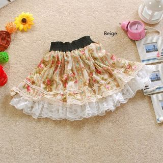 Girls Womens Stylish Sweet Bold Graphic Floral Lace Summer Mini Skirt