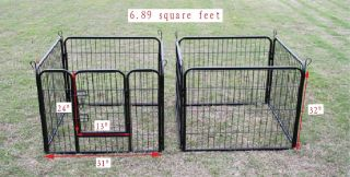 New Hammertone Finish 32 Heavy Duty Pet Playpen Dog Exercise Pen Cat