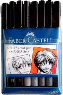 Faber Castell 8 Pitt Artist Pen Magna Set India Ink Brand New Unopened