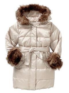 Baby Gap Toddler Girls Faux Fur Warmest Hooded Jacket 3T Beautiful RV$