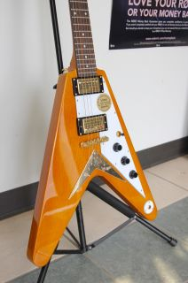 Epiphone 1958 Korina Flying V Electric Guitar EGV2KOGH1