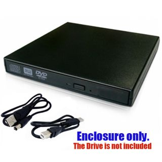 DVD RW ROM External Canddy Case Enclosure for Laptop DVD Drive New