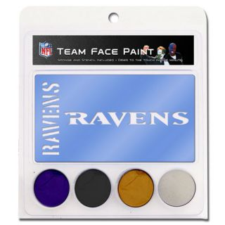 click an image to enlarge baltimore ravens face paint with stencils