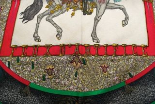 Authentic Hermes Feux DArtifice by M Duchene Jacquard Silk Scarf